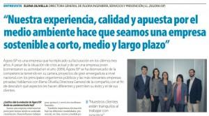 Entrevista Elena Olivella Excelencia Empresarial Suplemento La Razón 13 Noviembre 2014